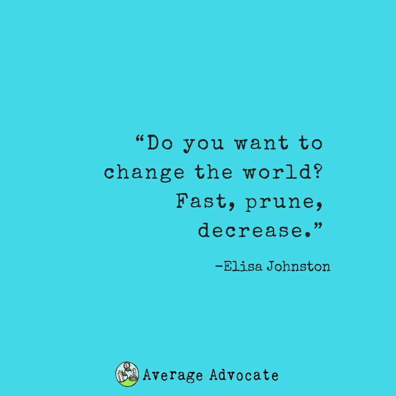 If You Want To Change the World You Have To Fast