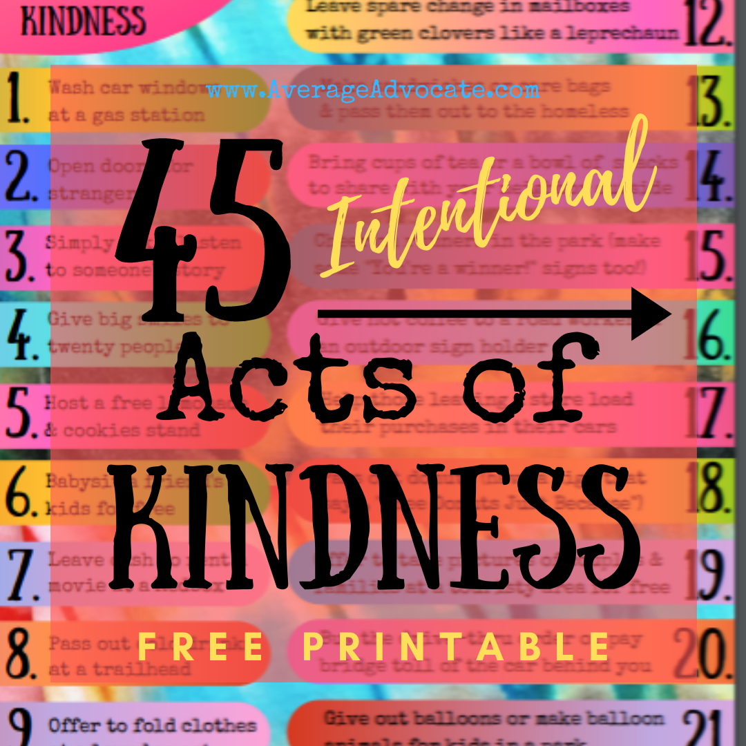 Intentional Acts of Kindness